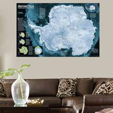 HD Print Antarctica Map for Office Decorations Wall Art Canvas Painting Best Gifts Artwork Modern Home Decor Frameless Wholesale