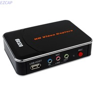 HD Video Game Capture Box HDMI YPbPr Recorder One Clink Record Into USB Flash For