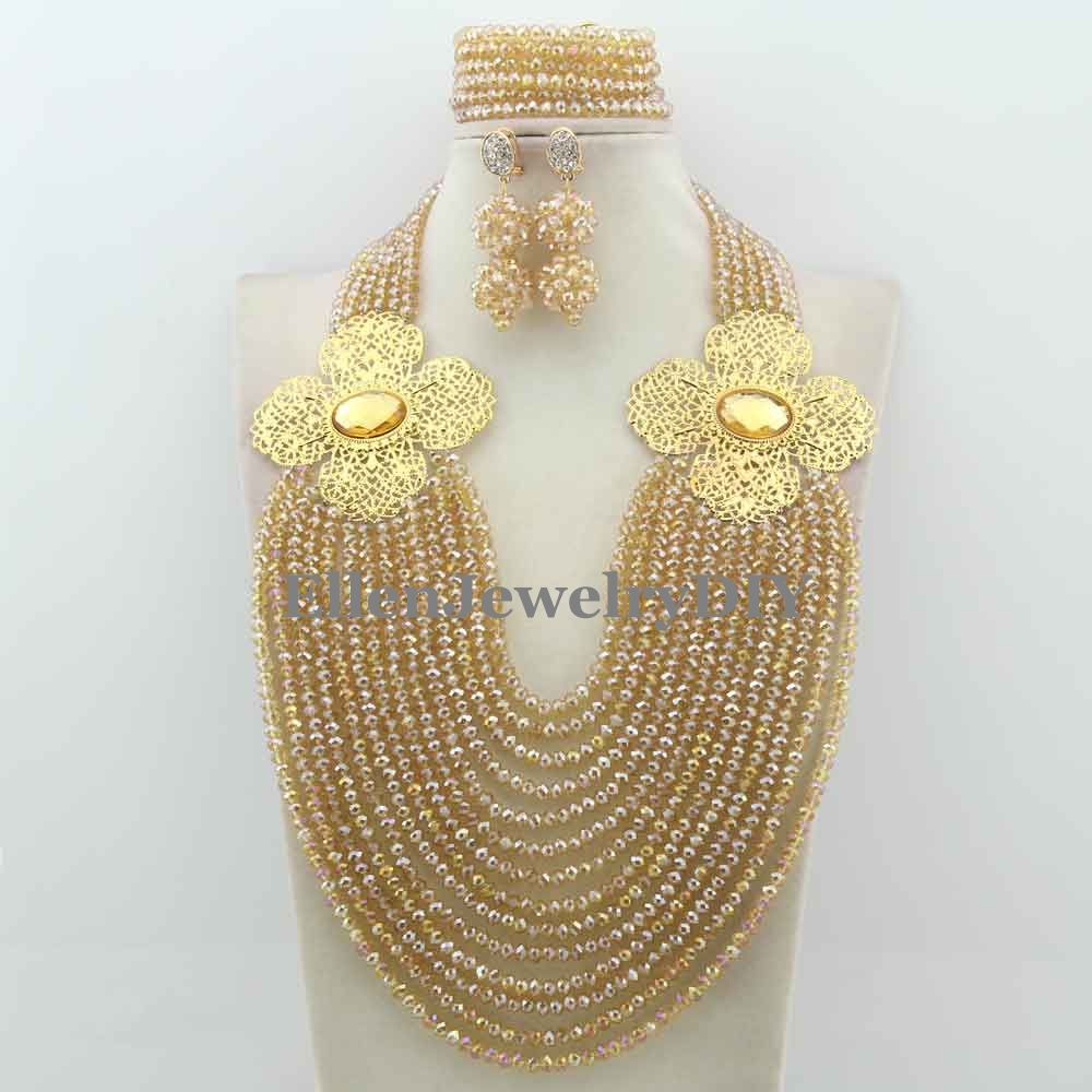 Exclusive Statement Necklace African Beads Jewelry Sets Handmade Wedding Jewelry Set Womens Jewellery Set W12320Exclusive Statement Necklace African Beads Jewelry Sets Handmade Wedding Jewelry Set Womens Jewellery Set W12320