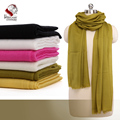 Ultra Thin Nepalese 100% Cashmere/Pasmina Solid Color Whit Scarf Shawl Muffler Soft Comfortable Factory Bulk Wholesale