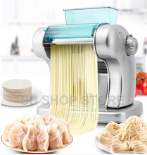 Electric Noodle Press Machine Spaghetti Pasta Maker Commercial Stainless Steel Dough Cutter Dumplings Roller Noodles Hanger eh674 electric counter top pasta noodle cooker for commerical or home use