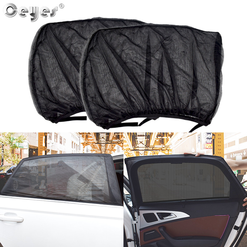 Ceyes 2Pcs Car Styling Protector Window Cover Sunshade Curtain UV Protection Shield Auto Universal Film Accessories For Toyota