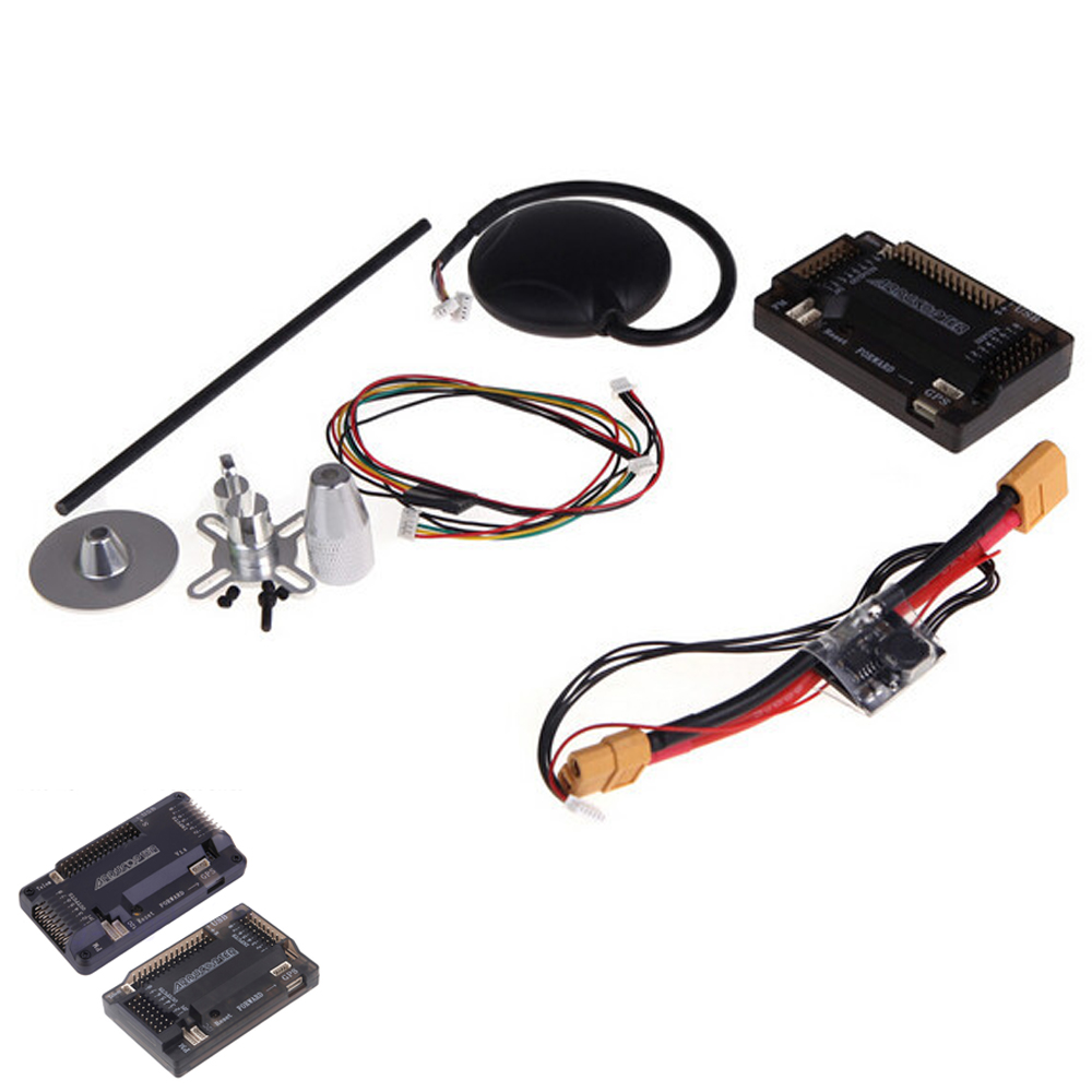 1 set ArduPilot Mega APM2.6 Flight Controller Board External  With Ublox NEO-6M GPS RC Airplane Part Wholeslae ublox neo 6m gps module mini apm pro flight controller board power module xt60 plug for rc quadcopter helicopter airplane