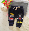 (1piece /lot) 100% cotton 2016 new autumn mouse trousers for children (0-3 year old )