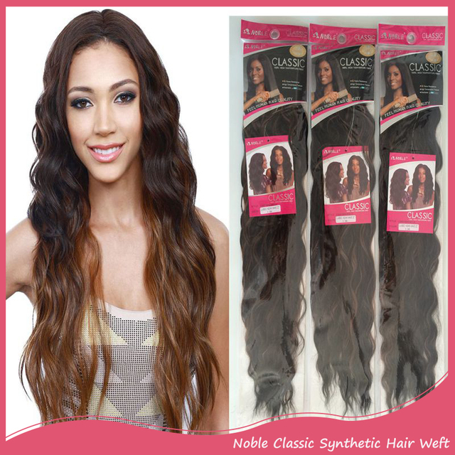 3pcslot Noble Classic Indian Wave Synthetic Hair Extensions Natural