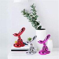 Jeff Koons Plating Balloon Rabbit Resin Statue Fashion Simulation Animal Coffee Shop Desktop Ornaments X2122