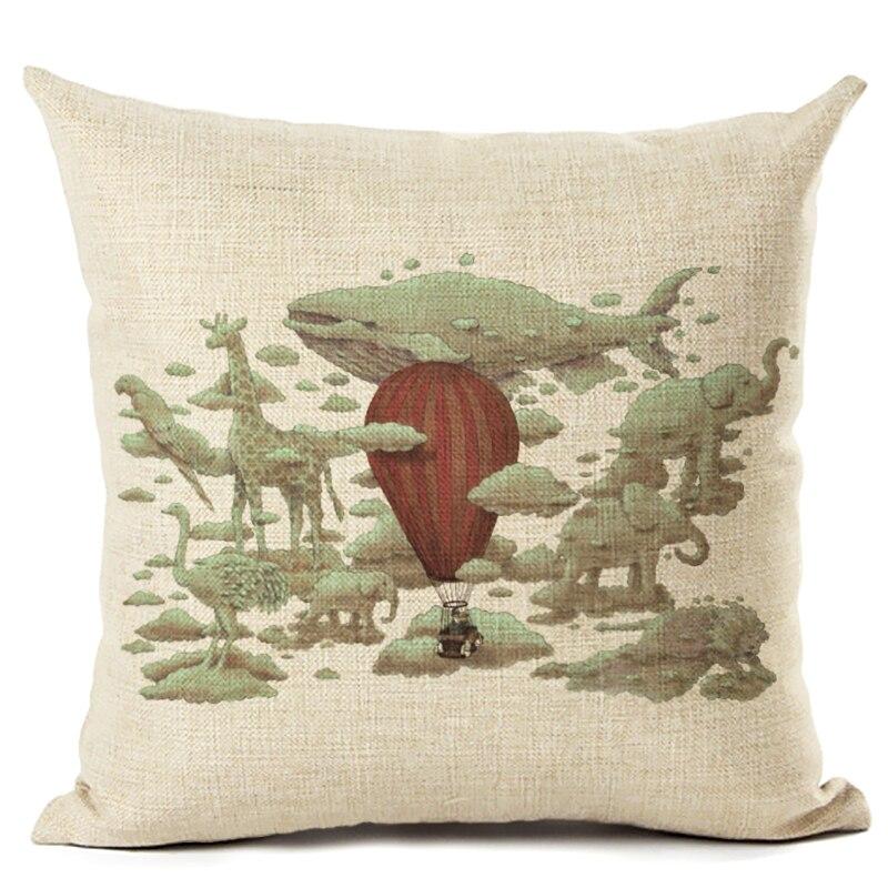 New Arrive Dinosaur Cushion Cover Decorative Sofa Throw