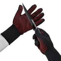 Cut Resistant 5 Level Steel Wire Major Security Self Enhanced Authority Testing Welding Working Gloves Free Shipping.