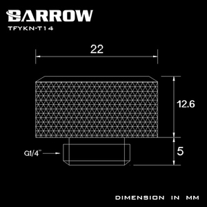 Image 5 - Barrow Hard Pipe Choice Multicolor Compression Fitting OD 12mm 14mm 16mm Rigid Tubing 12 Colors TFYKN T12 T14 T16