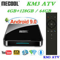 4GB RAM 128GB ROM Mecool Androidtv KM3 TV BOX Android 9.0 Google Certified S905X2 4K Smart Media Player KM9 PRO ATV 2.4G/5G WiFi