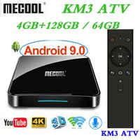 Max 4GB RAM 128GB ROM Mecool Androidtv KM3 TV BOX Android 9.0 Google Certified S905X2 4K Smart Media Player KM9 PRO ATV 2G16G
