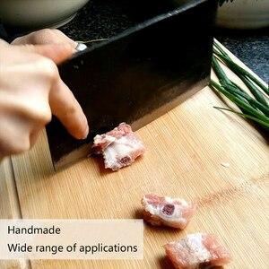 Image 2 - 1 szt. Czyste ręcznie robione integralnie uformowane ze stali manganowej nóż kuchenny nóż do krojenia uchwyt nóż do kości