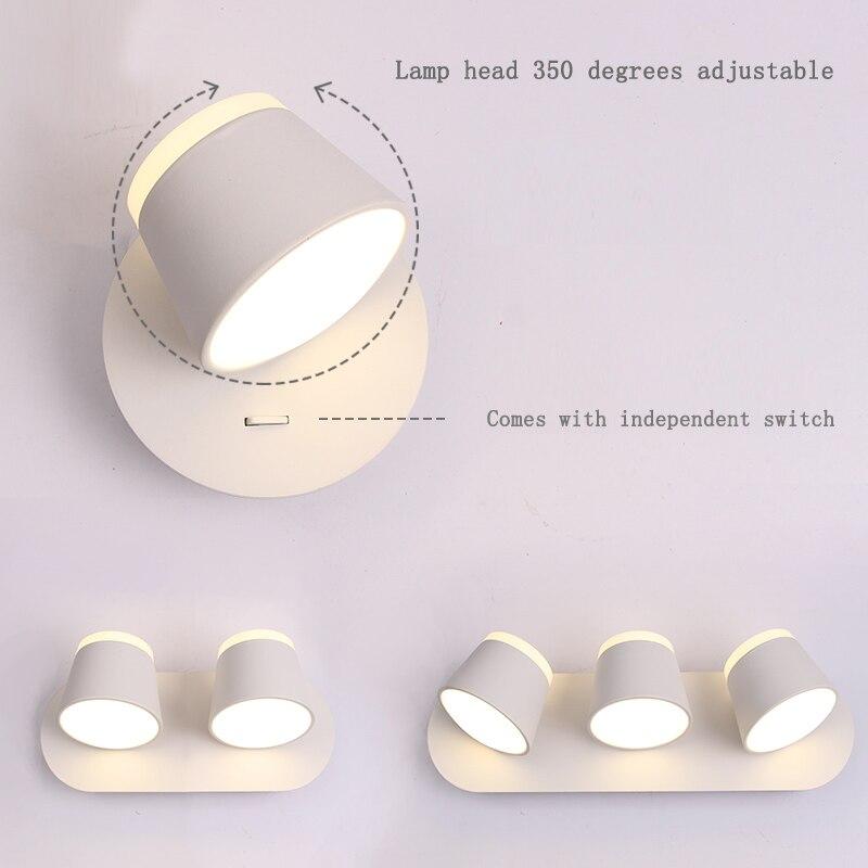 Nouvelle applique nordique lampe de chevet chambre salon moderne passerelle escalier Simple bois pur fer forgé applique murale lampe à LED