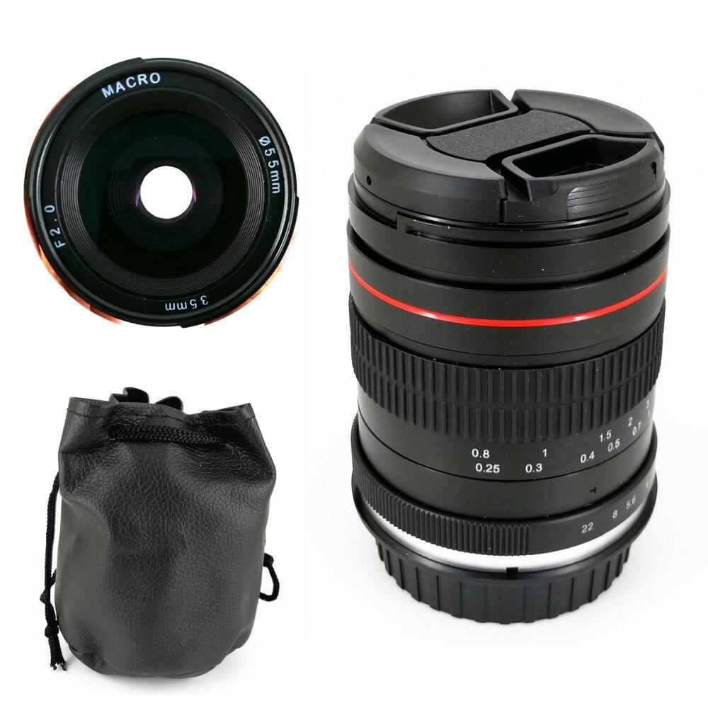 35mm F2 Manuel Macro objectif à Focale fixe pour Canon 7D 5D Mark II III IV 6D Nikon D850 D810 D800 D750 D610 D600 D700 35mm F2.0 F/2.0