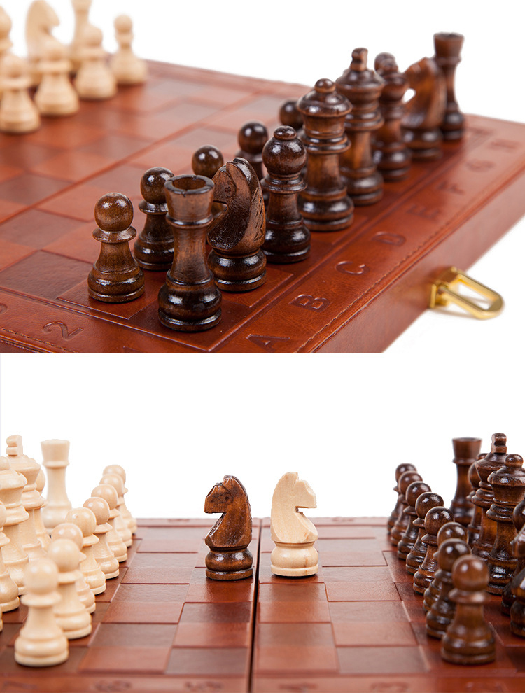 Top Quality Folding 2In1 Chess & Damas