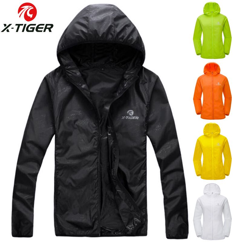 X-TIGER Windproof Reflective Cycling Jersey MTB Bike Bicycle Windcoat Super Light Sunscreen Hiking Jacket Cycling Sports Clothes(China)
