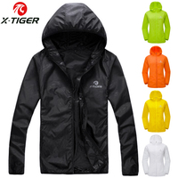 X TIGER Windproof Reflective Cycling Jersey MTB Bike Bicycle Windcoat Super Light Sunscreen Hiking Jacket Cycling