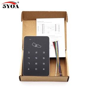 Image 4 - Samodzielny kontroler dostępu z 10 sztuk EM breloki do kluczy RFID klawiatura kontroli dostępu wyświetlacz cyfrowy czytnik kart dla system blokady drzwi