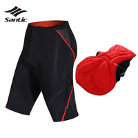 Santic Cycling Shorts Women 4D Coolmax Padded Breathable Road Mountain Bike Shorts MTB Bicycle Shorts Bermuda
