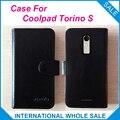 ¡ Caliente! en stock torino s exclusiva cubierta coolpad caso 6 colores de cuero de alta calidad para coolpad torino s de seguimiento