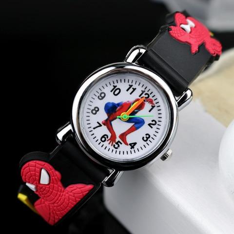 Spiderman Kids Watches Children 3D Rubber Strap Cartoon Quartz Wristwatch Gift for Boys Clock Montre Enfant Reloj Infantil Multan