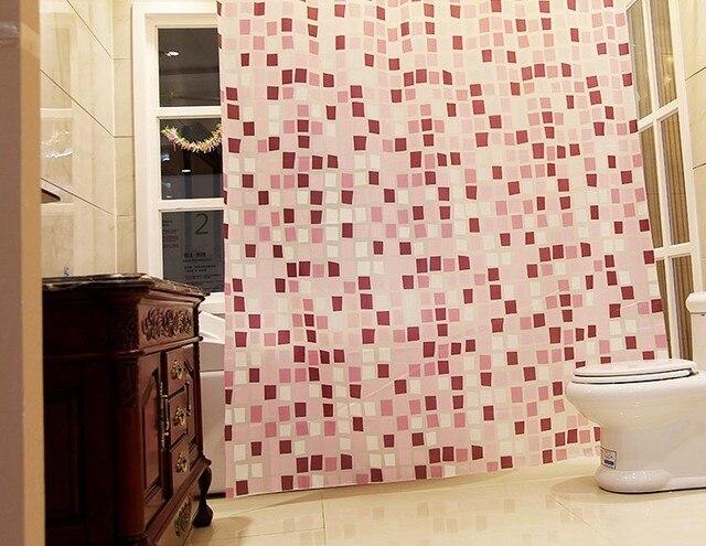 Tende Da Doccia Design : Qualità morden rosa pattern a mosaico bagno tenda
