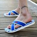 2015 deslizadores Del Verano de Los Hombres Sandalias Planas Ocasionales, Diapositivas de ocio Suave, EVA Masaje Beach sandals zapatillas Hombres Size40-45 el envío gratuito
