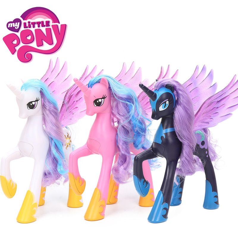 3pcs set 22cm My Little Pony Toys Princess Celestia Luna Rainbow Dash Princess Cadance PVC Action