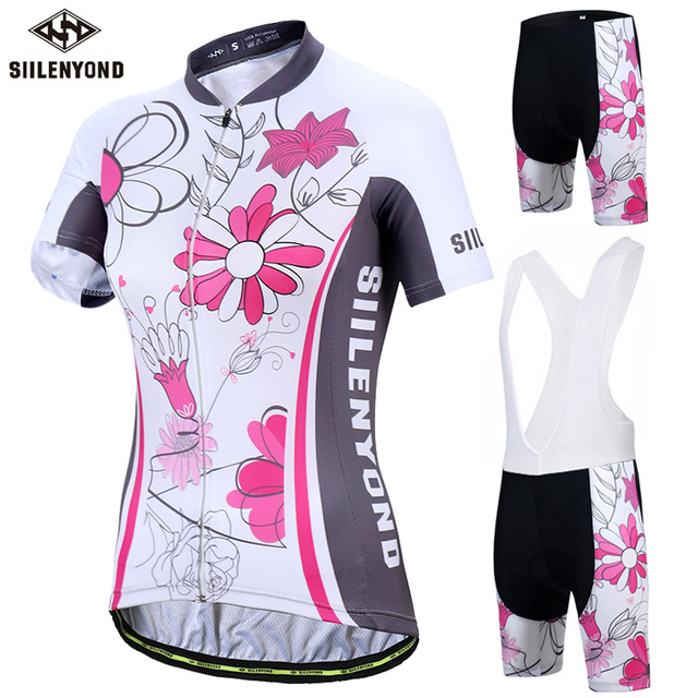 945cd2e2b SIILENYOND Jinny Women 100% Polyester Breathable Bicycle Clothes Short  Sleeve Cycling Clothing Ropa Ciclismo Cycling Jersey