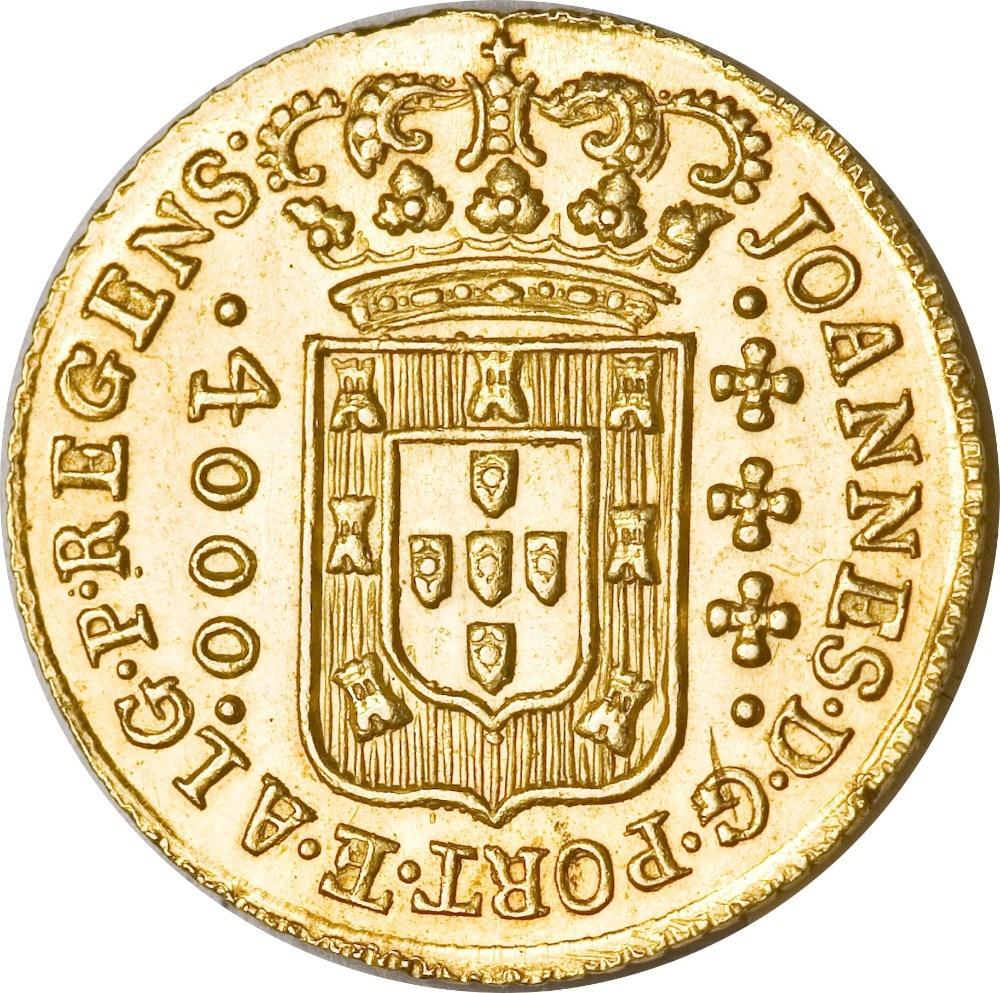 1814 Brazil 4000 Reis - Joao, Prince Regent Copy Gold coin
