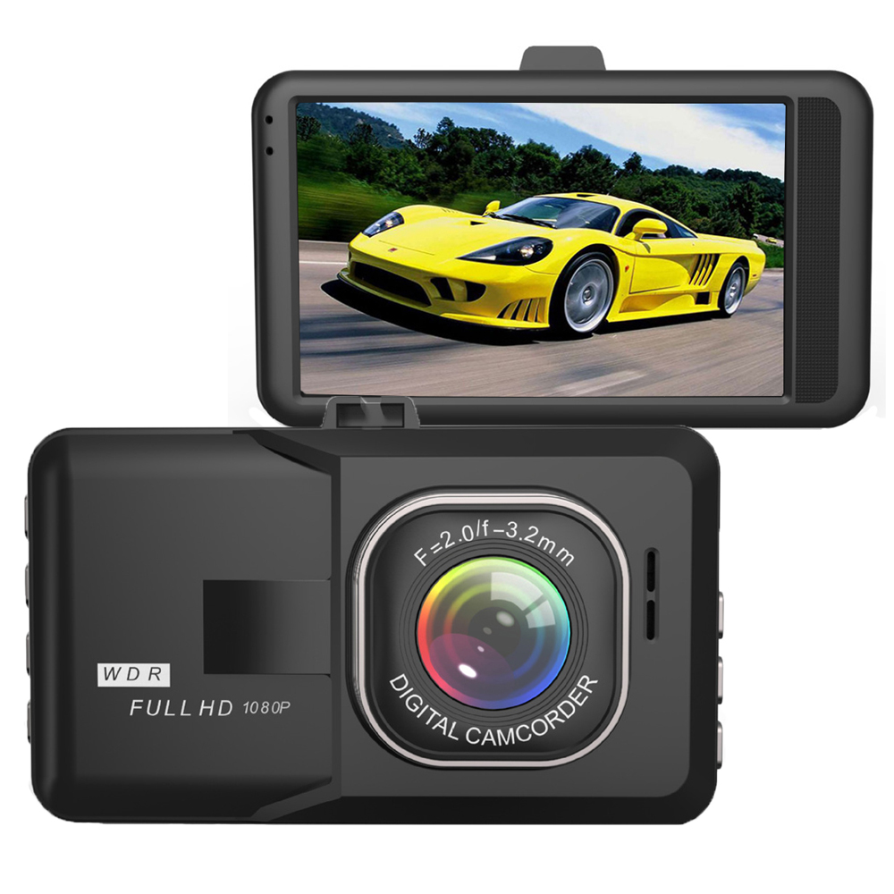 Original 3.0 Inch Car DVR Camera Full HD 1080P WDR Night
