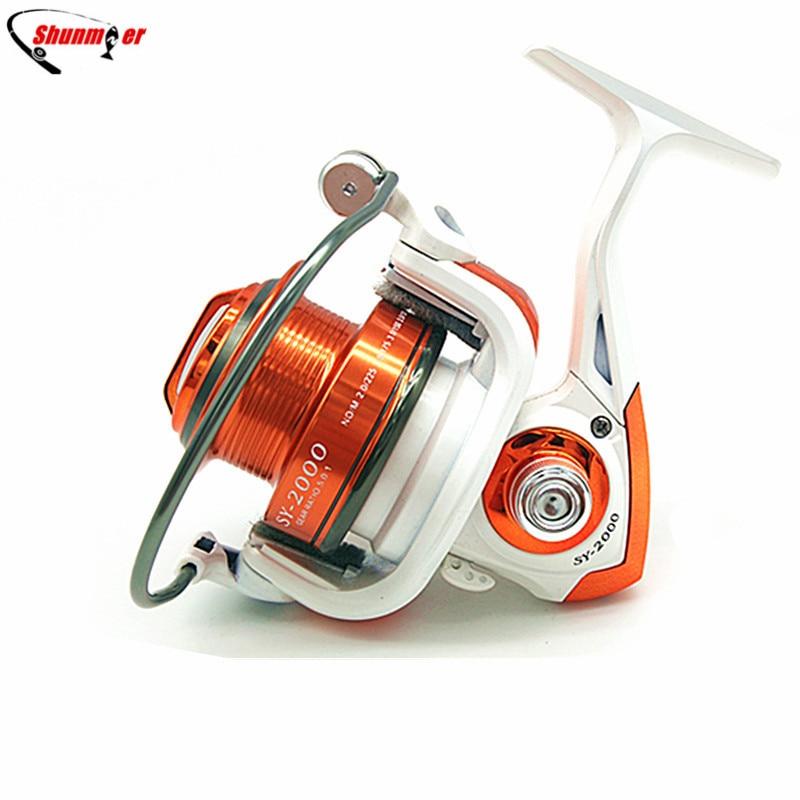 ФОТО 10 BB+1 fish ratio 5.1:1 Fishing Reel Spinning Reels 2000 4000 Pesca Fishing Wheels Carretilha Para Molinete Peche Carretes