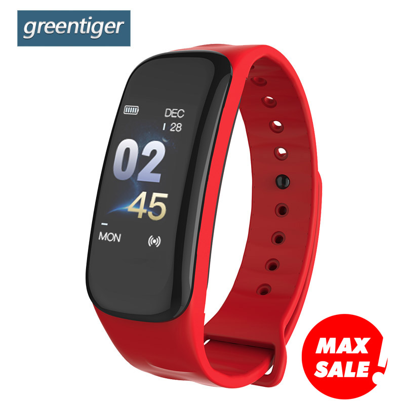 Greentiger Smart Band VS C1 Plus Fitness Tracker Heart Rate Monitor Blood Pressure