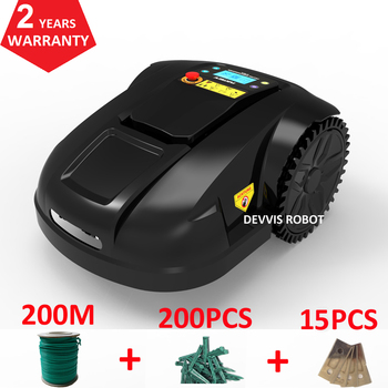 FBA No TAX 6th Generation Robot Lawn Mower Grass With 4.4ah lithuium Battery with 200m wire+200pcs pegs+15pcs blade 2
