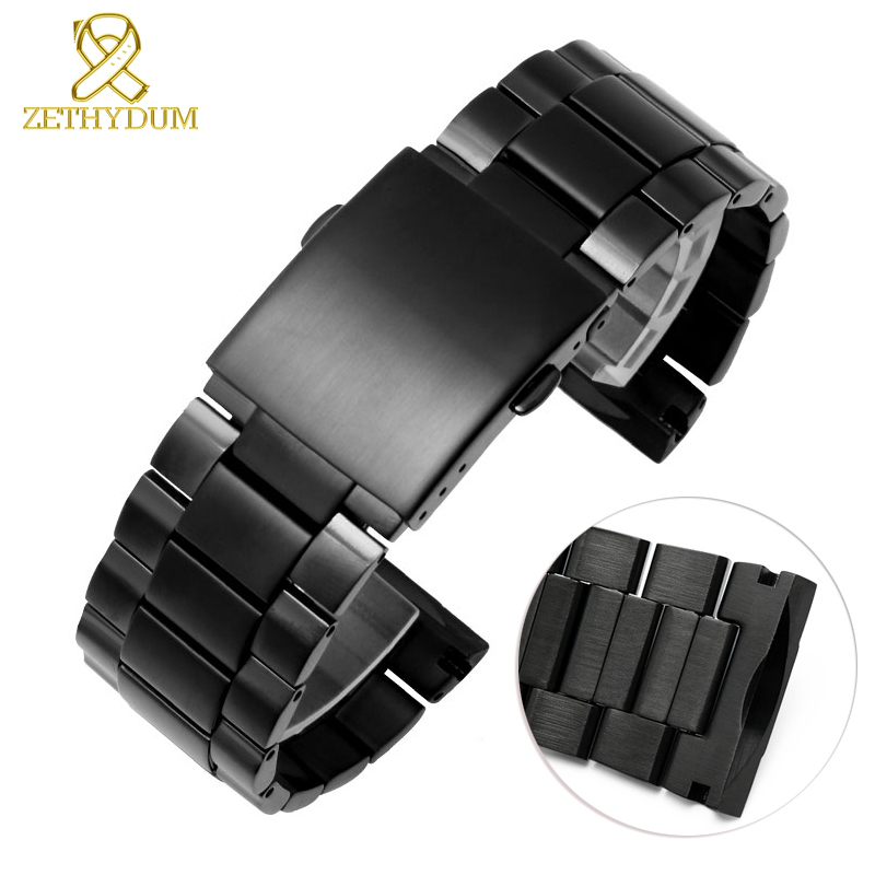 Cambered end stainless steel watchband 26mm solid metal watch strap for diesel DZ4318 DZ4323 DZ4283 DZ4309 watch bandCambered end stainless steel watchband 26mm solid metal watch strap for diesel DZ4318 DZ4323 DZ4283 DZ4309 watch band