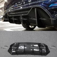 OLOTDI Good Fitment Carbon Fiber Weave P Style Back Lip Rear Bumper Spoiler Diffuser For BMW F90 M5 Car Styling car accessories