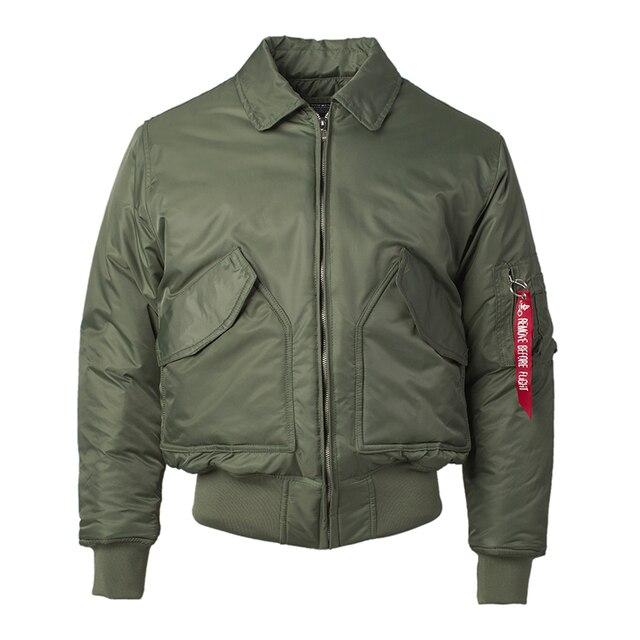 2020 Winter CWU 45P Plus Size Us Air Force Pilot Bomber Vlucht Jas Mannen Hip Hop Gewatteerde Letterman Waterdichte Nylon Puffer jas