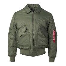 2020 kış CWU 45P artı boyutu abd hava kuvvetleri Pilot bombacı uçuş ceket erkekler hip hop yastıklı Letterman su geçirmez naylon puffer ceket