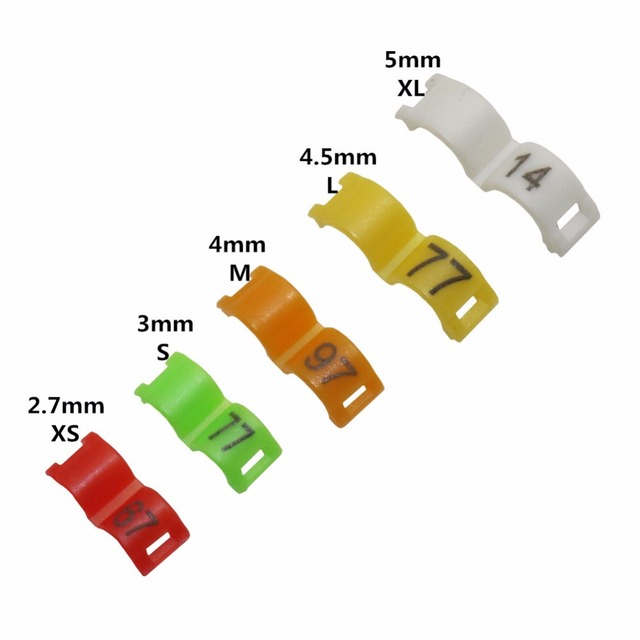100 Pcs / lot Bird clip ring 2.7mm 3mm 4mm 4.5mm 5mm Plastic foot rings Colorful birds, Acacia birds pigeon All kinds of bird fo