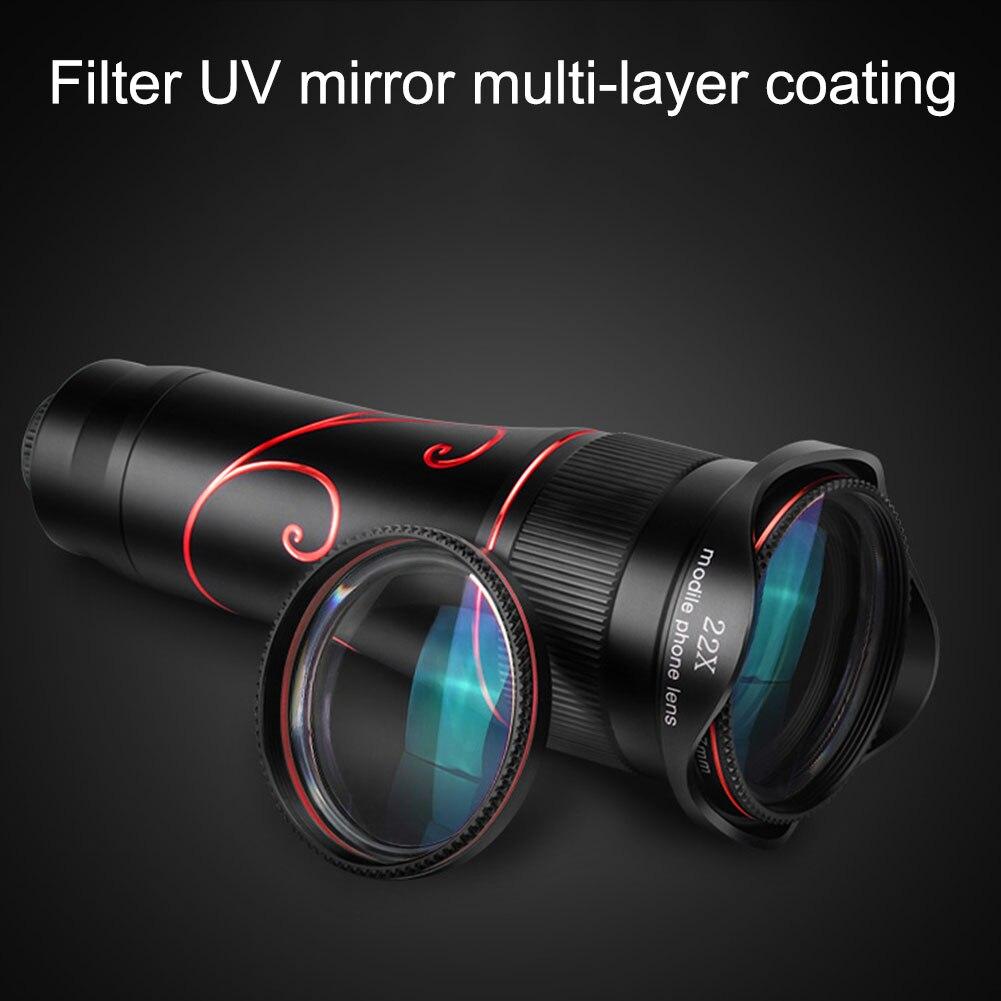 Téléphone portable 22x caméra Zoom optique télescopique lentille pour Samsung iphone huawei xiaomi