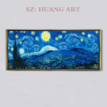 Professional Artist Handmade High Quality Reproduction Vincent Van  Gogh Oil Painting The Starry Night On Canvas