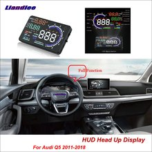 Liandlee Car Head Up Display HUD For Audi Q5 2011-2018 Safe Driving Screen OBD II Speedometer Projector Windshield цена и фото