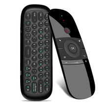 2018 New Original W1 Keyboard Mouse Wireless 2.4G Fly Air Mouse Rechargeble Mini Remote Control For Android Tv Box/Mini Pc/Tv original rii mini i7 2 4g wireless fly air mouse remote control motion sensing built in 6 axis for android tv box smart pc