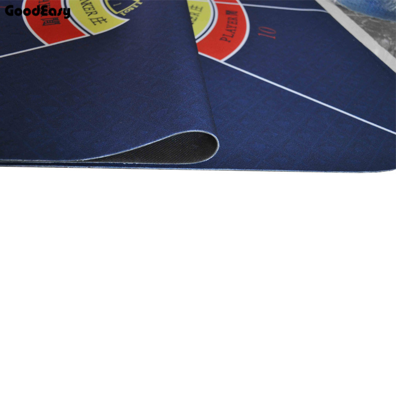 180*90cm  Baccarat Suede Rubber Texas Hold'em Black Jack 21Points Casino Poker Tablecloth Water Resistant Poker Table Game Mat-5