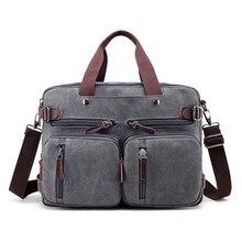 Холщовый Рюкзак для ноутбука 17 дюймов, мужская сумка на плечо для ноутбука 14, 15, 15,6, 17,3 дюйма, Женская стильная большая сумка для ноутбука 3 в 1, черный, серый