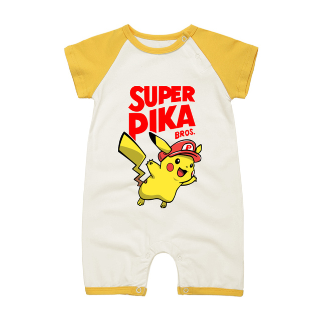 2017summer Baby Clothes Short Sleeve Cartoon Anime Baby Romper