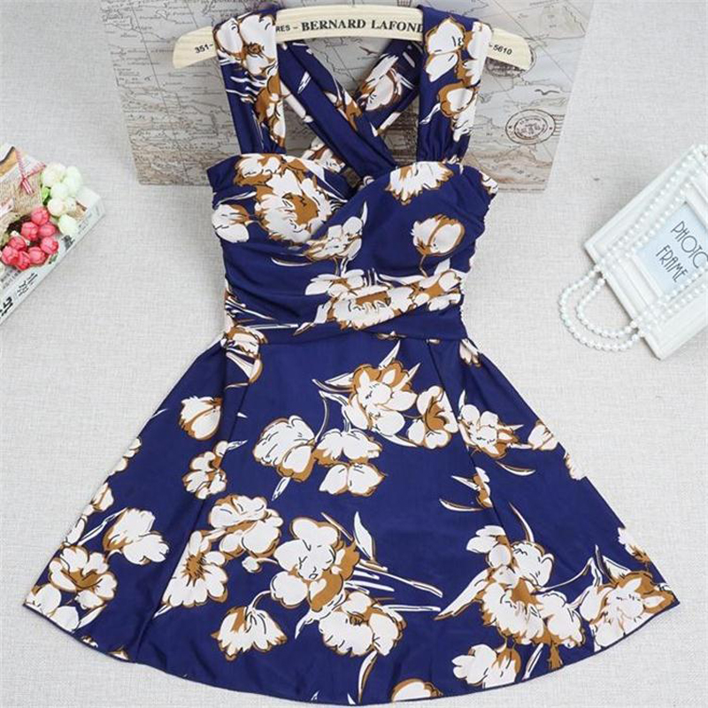 Crop Bandage Skirt Swimsuit Women Sexy Plus Size Swimming Suit Lady One-piece Swimsuit Gather Chest Swimsuit Beach Wear Dress 2018 limited korean national small fragrant spa chest sexy blouse gather cover belly thin bikinis four piece female swimsuit