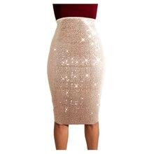 Сексуальные юбки женские модные Saia Midi Roupas элегантная женская юбка Faldas Mujer Moda юбка с пайетками однотонная vestido de festa