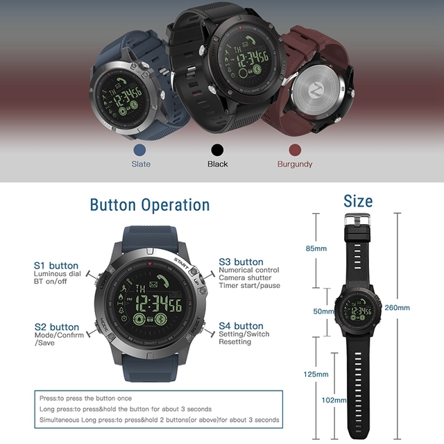 Zeblaze VIBE 3 3S GMT Two Places All-day Activity Record Sport 33 Month Long Standby Information Reminder Smartwatch Smart Watch
