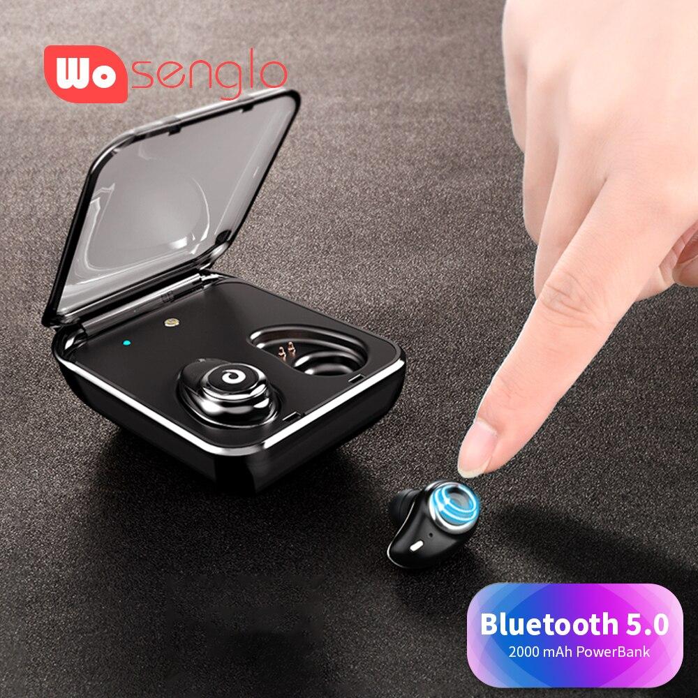 Bluetooth 5.0 koptelefoon 3D Stereo draadloze hoofdtelefoon Hifi Geluid in ear Oordopjes IPX7 Waterdichte Headset Voor iPhone X Siri Sony LG-in Bluetooth Oordopjes & Koptelefoon van Consumentenelektronica op  Groep 1
